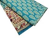 IBA Indianbeautifulart Diseño diseñador Beige Tela popelín de algodón Floral 42' Ancho Vestido de la elaboración de Telas por el astillero