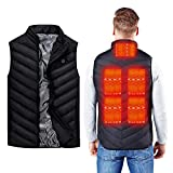 Electric Heated Vest for Men Women - USB Rechargeable Unisex Warming Heating Vest - Best Battery Powered Washable Jacket for Hunting Motorcycle Winter Outdoor (Power Bank Not Included) (Men Size M)