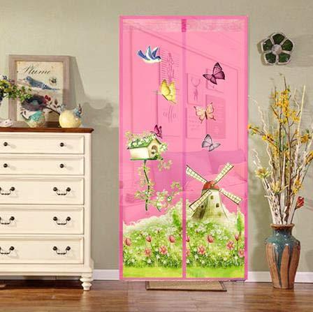Mariposa silenciosa mosquitera electromagnética puerta neta verano malla de encriptación libre de mosquitos cortina magnética pantalla de puerta de poliéster A4 W90xH210
