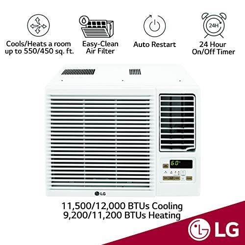 LG 12,000 BTU 230V Window-Mounted AIR Conditioner with 11,200 BTU Heat Function Maryland