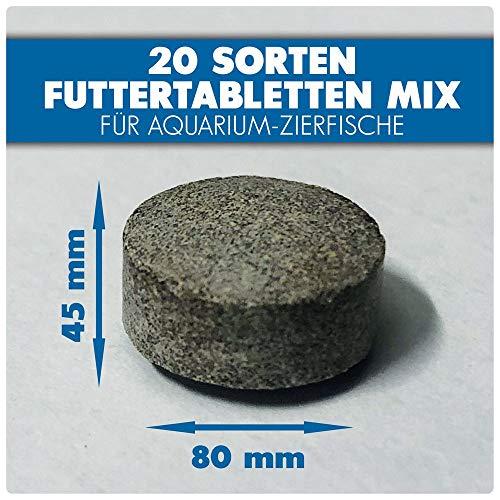 AQUALITY PREMIUM Futter-Tabletten MIX '20 Sorten' 1.000 ml (Eine täglich ausgewogene Mischung von 20 verschiedenen Futtertablettensorten für Ihre Aquarium-Fische. Leckeres Fischfutter in Premium-Qualität) - 3