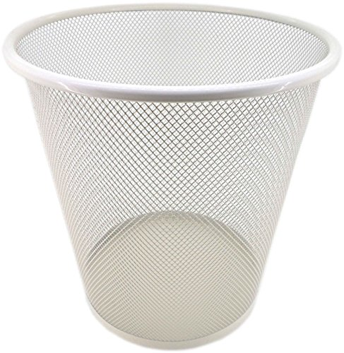 PAMEX Papelera de Rejilla Metalica (Blanco)