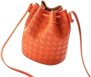 RONSHIN Female Fashion Satchel Single Shoulder Solid Color Bucket Bag