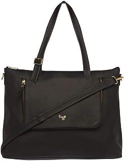 Baggit Women's Synthetic Tote Bag (Combat Y G Z)(Black)