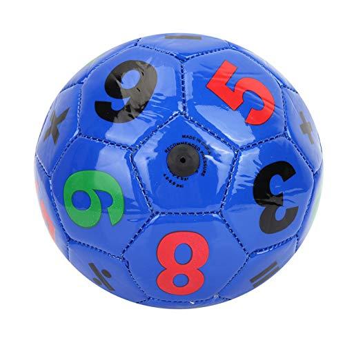 Pallone da calcio per bambini, numero viola in PVC per bambini Sport all'aperto Calcio Pallone da calcio Taglia 2 Esercizio sportivo per 3 4 5 anni Giocattoli per bambini
