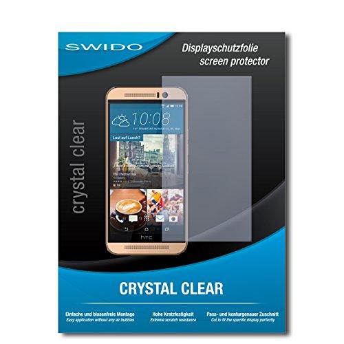 SWIDO Schutzfolie für HTC One M9 (Prime Camera Edition) [2 Stück] Kristall-Klar, Hoher Festigkeitgrad, Schutz vor Öl, Staub & Kratzer/Glasfolie, Bildschirmschutz, Bildschirmschutzfolie, Panzerglas-Folie