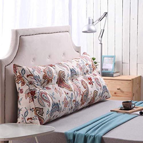 YLCJ Creative Light- Driehoek Kussen Dubbele nachtkastje Sofa Hoofdsteun Rugleuning Bed Brede Relaxing nachtkastje (Kleur: U, Afmetingen: 100 * 50 * 25 cm)