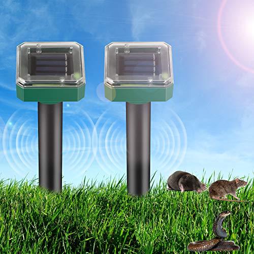 2 repellenti per talpe, a energia solare, per allontanare talpe, con grado di impermeabilità IP56, per allontanare le arvicole, repellente Mole per il giardino