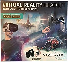 Virtual Reality Headset with Built-In Headphones