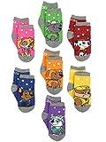 Paw Patrol Boys Girls 7 pack Socks with Grippers (Shoe: 7-10 (Sock:4-6), Grey/Multi)