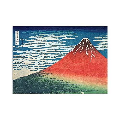 Japanese Ukiyo-e Red Fuji Art Print Poster – Katsushika Hokusai Gaifu...