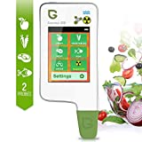 6 in 1 Greentest Testeur de qualité de l'eau, test de dureté de l'eau TDS,Nourriture Testeur de Nitrate, détecteur de rayonnement compteur Geiger, Légume fruit Viande Poisson Mètre analyseur ECO5FW
