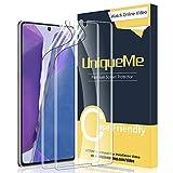 [2 Pack] UniqueMe Compatible con Samsung Galaxy Note 20 5G / 4G Protector de Pantalla de TPU, [Sin Burbujas] [Flexible] [Cobertura Máxima] HD Film