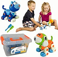 Kidtastic Cat & Dog Take Apart Toys - STEM Learning Set, Construction Engineering Play Kit for Boys Girls Toddlers, Best...
