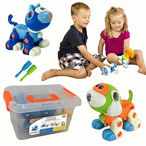 Kidtastic Cat & Dog Take Apart Toys - STEM Learning Set, Construction Engineering Play Kit for Boys Girls Toddlers, Best Toy Gift Kids Ages 3yr – 6yr, 3 Year olds