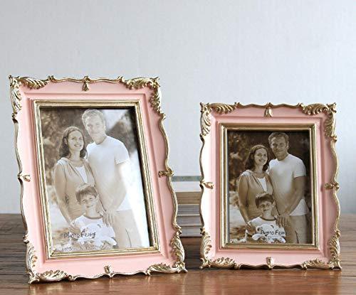 gendies Cornice per Foto Cornici per Foto da Tavolo per Matrimonio Soggiorno Decorazioni per la casa Cornice per Foto in Resina 7 Pollici Rosa