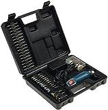 Mini Bohrmaschine Gravur & Polier Set 63-teilig 12.000UpM 60x Schleifwerkzeuge, Bohrer, Poliermatten mit 230V auf 12V Netzteil