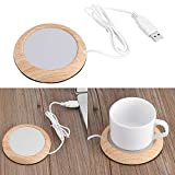 Chauffe Tasse à Café,USB Isolation Coasters Tasse de Grain de Bois Gadgets Chauffants Tasse à Café/Thé Mug Tapis de Boisson pour Maison Bureau