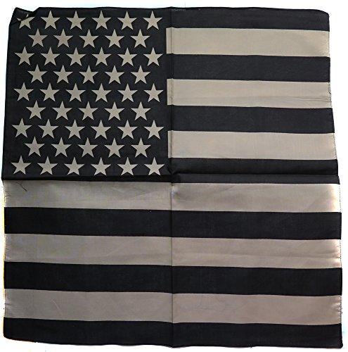 Bandana Drapeau USA us Foulard Protege Cou Motard Moto Noir 54x54cm Import USA Coton