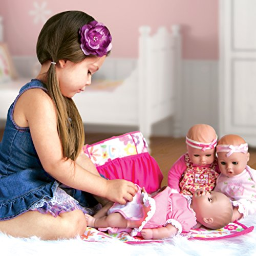 Adora Playtime Garden Party 13 inch Baby Doll with Pink Dress, Flower Headband and Bottle