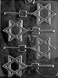 Star of David Lollipop Chocolate Mold - R037 - Includes NCS Copyrighted Melting & Chocolate Molding...