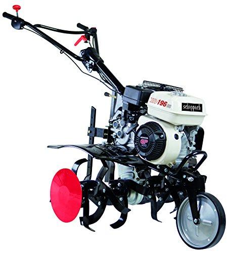 Scheppach Benzin Motorhacke MTP860H (6,5 PS, Arbeitsbreite 800mm, Arbeitstiefe 350mm, 24 Messer, stabile Stahlkonstruktion, Komforthandgriff, Transporträder)