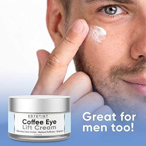 51UktiBawnL - Caffeine Infused Coffee Eye Lift Cream - Reduces Puffiness, Brightens Dark Circles, Firms Under Eye Bags - Anti Aging, Wrinkle Fighting Skin Treatment