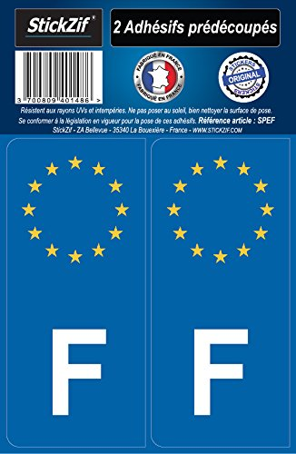 STICKZIF SPEF 2 Adhésif Autocollants Pays Europe France, Set de 2