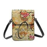 Bolso para teléfono celular, estilo vintage, estilo romántico, para bicicleta, bolsa de hombro ligera