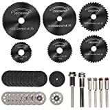 Cutting Wheels for Dremel Rotary Tool, Diamond Metal Wood Cutting Wheels and Drill Cutting Disc with 1/8' Shank and Resin Cutting Off Wheels with Mandrels for Wood Metal DIY Craft
