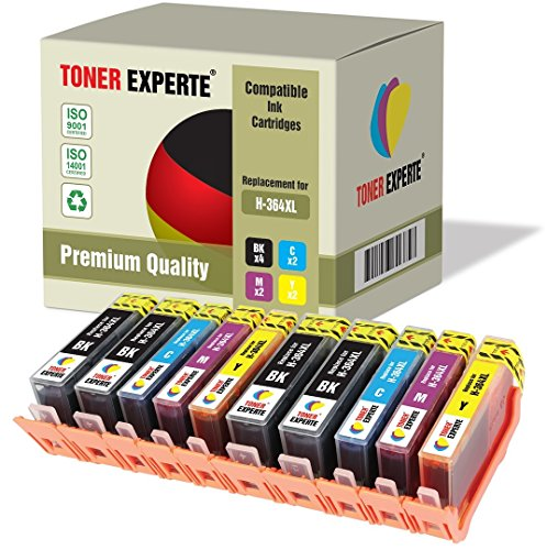 Pack de 10 XL TONER EXPERTE® Cartuchos de Tinta compatibles con HP 364XL para Photosmart 5510 5514 5515 5520 6510 6520 B109a B110a Photosmart Plus B209a B210a Deskjet 3070A 3520 Officejet 4610 4620
