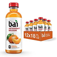 FLAVORED WATER DRINKS – overflowing with clementine fruit flavor HEALTHY FLAVOR AND JUST 10 CALORIES -- low calorie, shouldn't mean low flavor. Bai works to deliver low calorie, bold fruity flavor so that you don't have to sacrifice. FREE OF ARTIFICI...