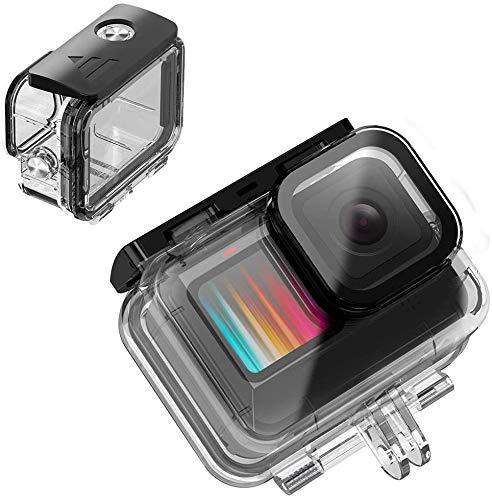 Carcasa impermeable para Gopro Hero 9 buceo, hasta 60 m, Ulanzi G9-5, carcasa protectora para Gopro Hero 9, color negro, puro y transparente, compatible con trípode de cámara deportiva