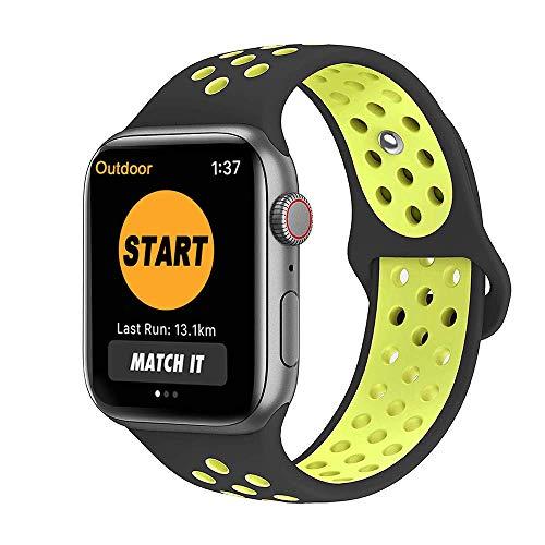 SYOSIN Cinturino per Apple Watch, Morbido Silicone Sport Cinturini di Ricambio per Apple Watch Serie 1, Serie 2, Serie 3 Serie 4, 38MM 42MM …