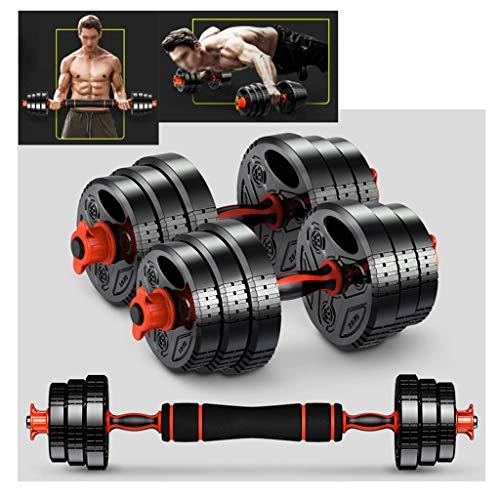 Fxhyy - Coppia di pesi regolabili con biella, per palestra, casa, allenamento, allenamento, allenamento, pesi, multiuso, per uomini e donne (dimensioni: 28 kg