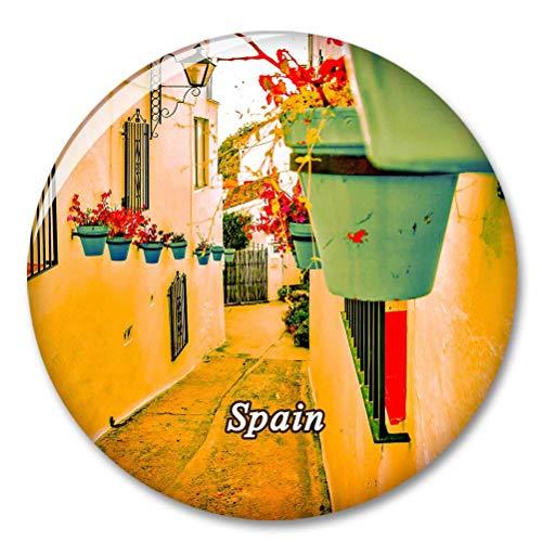 España Mijas Málaga Imán de Nevera, imánes Decorativo, abridor de Botellas, Ciudad turística, Viaje, colección de Recuerdos, Regalo, Pegatina Fuerte para Nevera