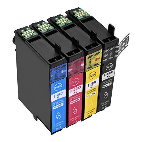 Aibecy Cartuchos de tinta para Epson 29 XL 29XL compatibles con Epson XP-342 XP-352 XP-235 XP-355 XP-245 XP-442 XP-335 XP-255 XP-257 XP-332 XP- 345 XP-352 XP-432 XP-435