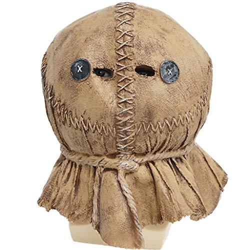 Accessoires Halloween Horror Horror Thema Vogelscheuche Kopfbedeckung Verrückte Baby-Party-Requisiten der verrückten Halloween-Maske Weihnachts lustige Kopfbedeckung (Color : Beige)