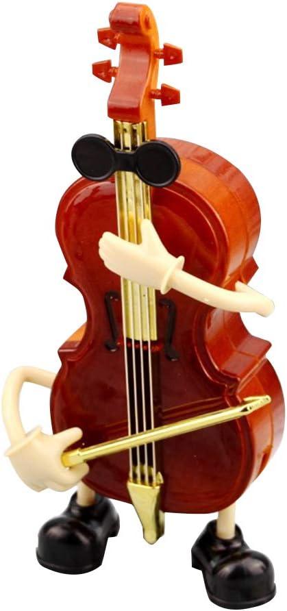 Healifty Plastic Music Box Handmade Shaped Violin Miniature Wind Free shipping on posting reviews Superlatite