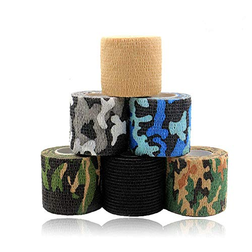 Tattoo Grip Cover - Rayyl 6PCS 2In Einweg Tattoo Grip Cover Tape Wrap Elastische selbstklebende Bandage Adhärent Wrap für Tattoo Machine Grip Zubehör Tattoo Supplies