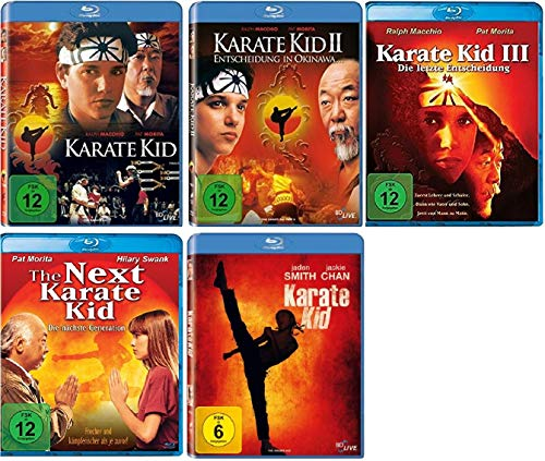 Karate Kid Teil 1-3 + The Next Karate Kid + Karate Kid 2010 / 5 Filme [Blu-ray Set]