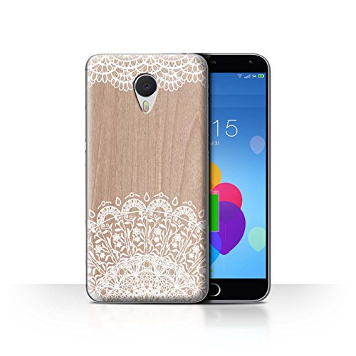 Stuff4 Phone Case/Cover/Skin/mzum3 N/fine Lace Wood Collection Beauté Orné