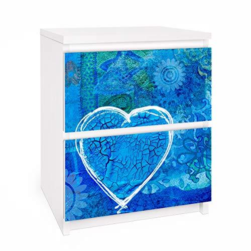 Bilderwelten Möbelfolie für IKEA Malm Kommode SelbstKlebefolie Deko Terra Azura 2X 20 x 40cm