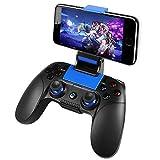 Mando de Juego PowerLead Controlador de juegos móvil inalámbrico Controlador de gamepad para teléfono celular Compatible con iOS / Android / PC Win 7/10 [no compatible con iOS13.4 o superior]
