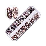 Pure Vie 1440 piezas 3D Nail Glitter Pedrería para Uñas Decoración de Arte de Uñas Diamantes Brillantes Preciosas de Acrílico #3