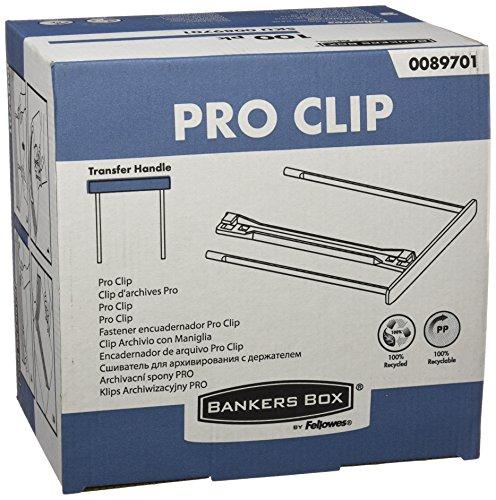 Bankers Box 0089701 Archivclip, ProClip, 100 mm, mit Bügel, 100% recycelt, 100 Stück