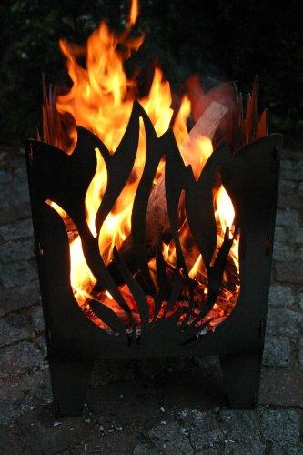 SvenskaV Feuersäule Flamme aus Stahl...