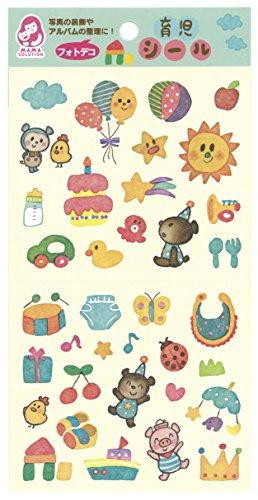 銀鳥産業 育児シール フォトデコお子様の育児日記や写真のワンポイント