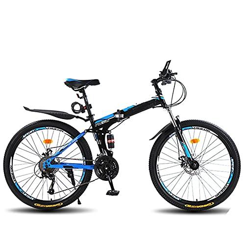 Bicicleta Plegable para Adultos, Bicicleta para joven, mujer Mountain Bike, Bicicleta de montaña prémium para niños, niñas, hombres y mujeres/B / 26inch
