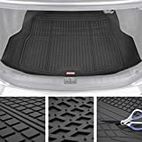 Premium FlexTough All-Protection Cargo Mat Liner – w/Traction Grips & Fresh Design, Heavy Duty Trimmable Trunk Liner for Car Truck SUV